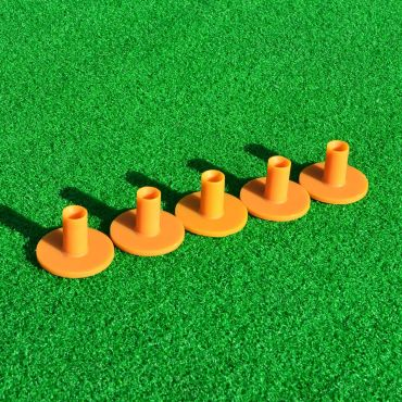 70mm Rubber Driving Range Tees (5 Pack) | Net World Sports