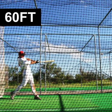 FORTRESS 60ft Baseball Batting Cage Nets [2 Piece Cage]
