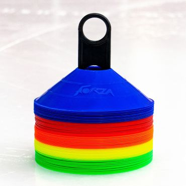 Coloured Cones For Ice Hockey Training Drills Pack Of 50 Or 1000 | Net World Sports