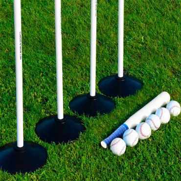 Rounders Sets [Bats, Balls, Poles, Bases & Carry Bag]