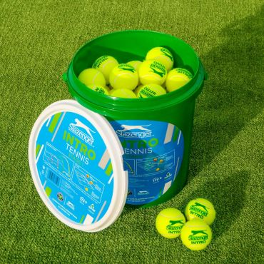 Slazenger Mini Green Tennis Balls (Stage 1) (60 Bucket)
