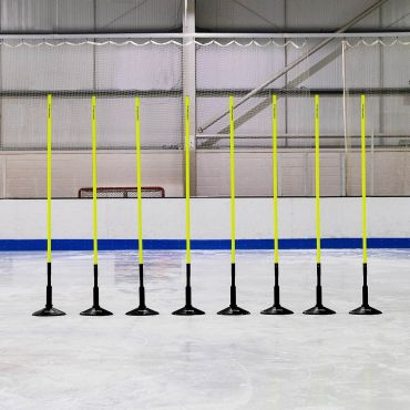 5ft or 6ft Spring Loaded Ice Hockey Slalom Poles