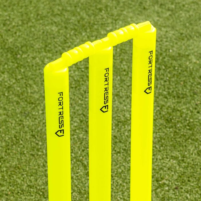 Fluro Yellow Ultra Durable Plastic Cricket Stumps | Net World Sports