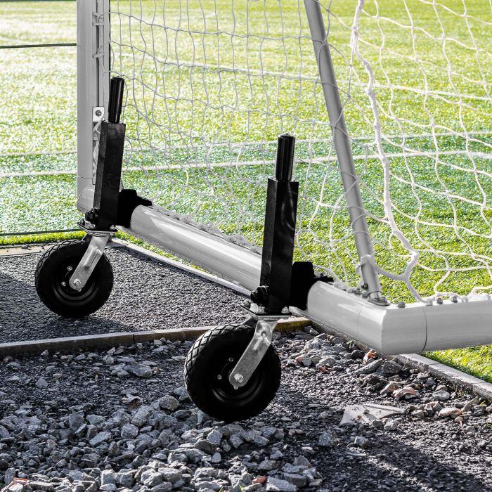 21 x 7 FORZA Alu110 Freestanding Football Goal With 360 Wheels