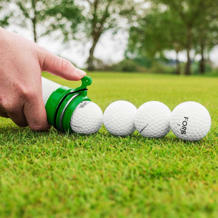 Golf Clikka Tube With Automatic Locking Clip