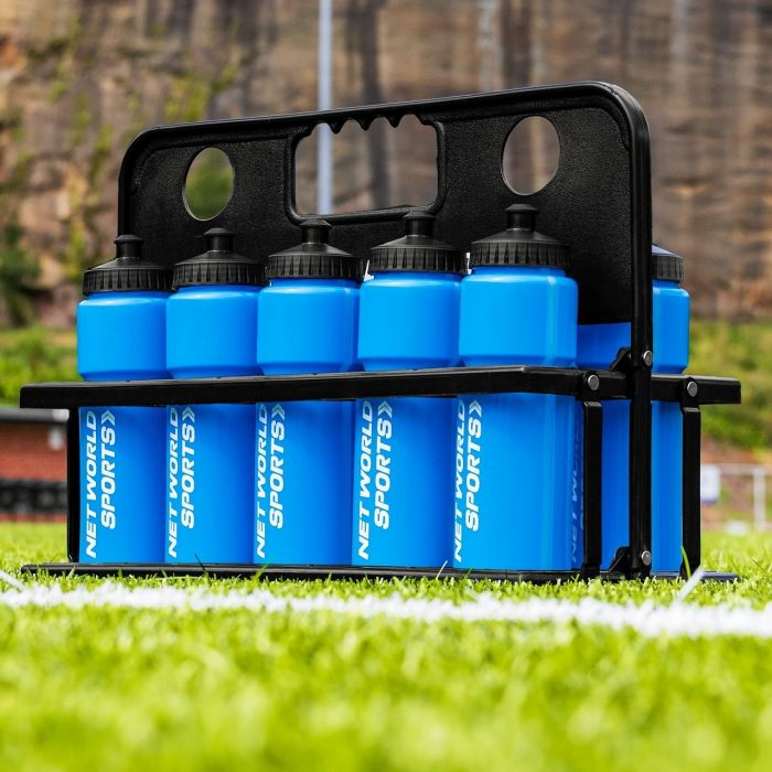Blue AFL Water Bottles And Carrier