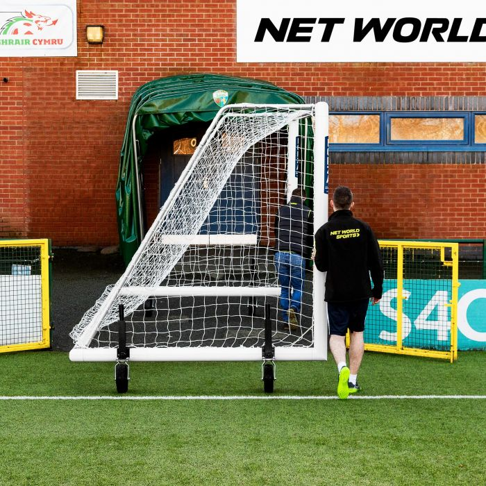 21 x 7 FORZA Alu110 Freestanding Football Goal With 360 Degree Wheels