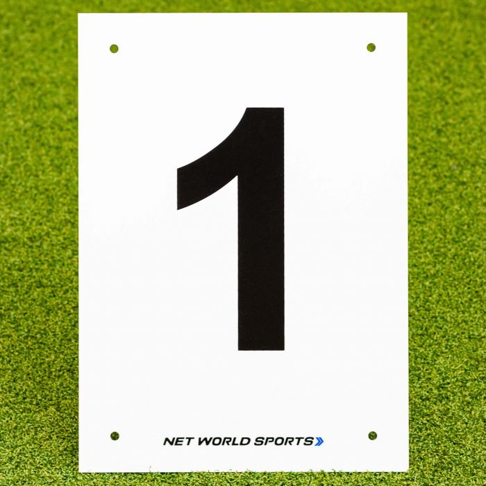 A4 Tennis Court & Sports Pitch Number Plates | Tennis Court Equipment | Sports Pitches Equipment | Net World Sports