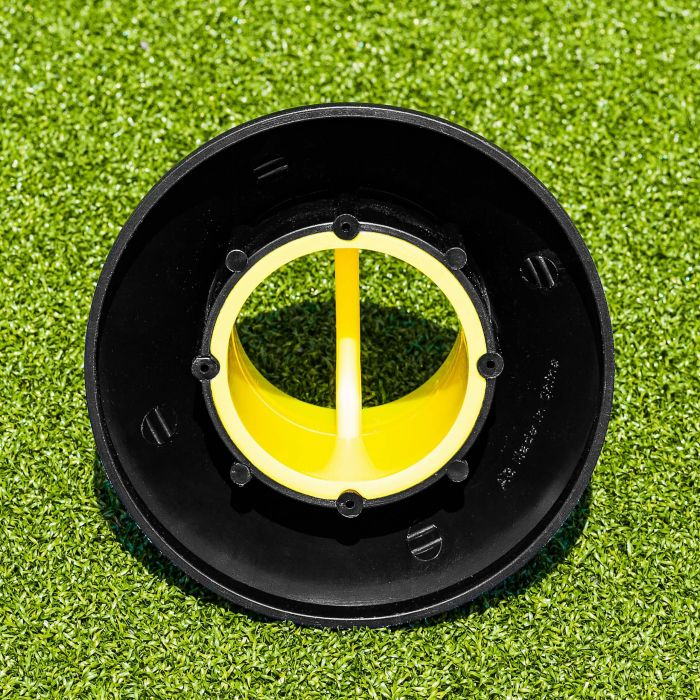 Black And Yellow Rugby Kicking Tee