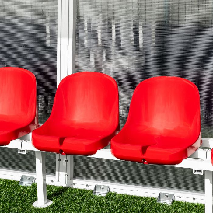 Red Seats For Aluminium Team Shelters