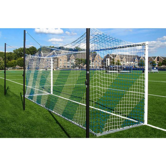 Blue & White Striped Football Nets
