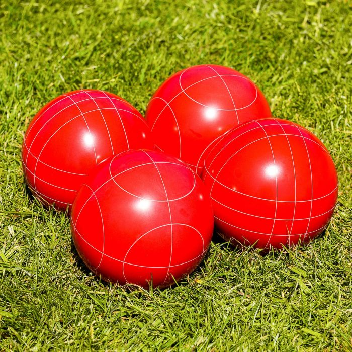 Red Poly-Resin Bocce Balls