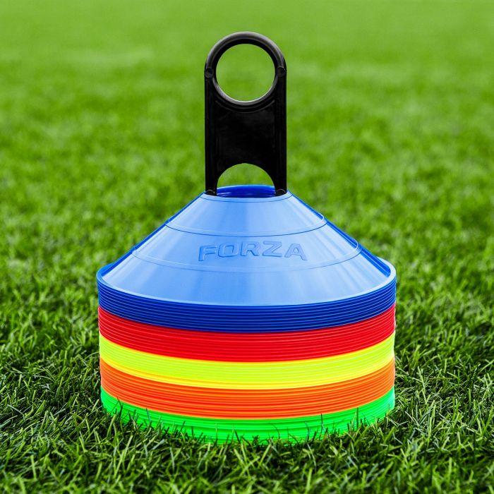 Multiple Lacrosse Marker Cones