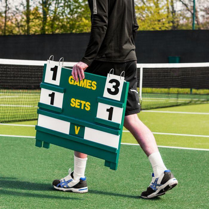 Portable Wooden Tennis Scoreboard | Net World Sports
