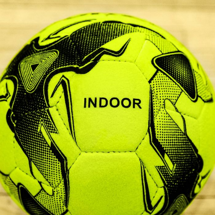 Florescent Yellow Hand-Stitched Soccer Ball