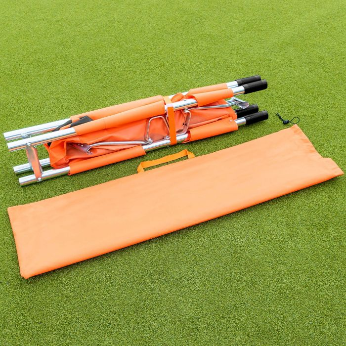 Emergency Aluminum Rescue Stretcher With Rubber Handles