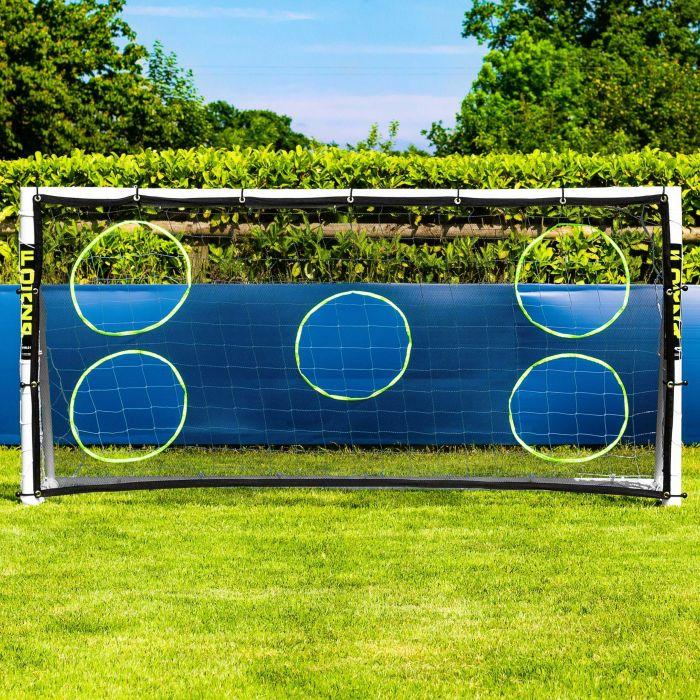 8 x 4 Soccer Goal Target Sheet | 5 Hole Targets For Strikers