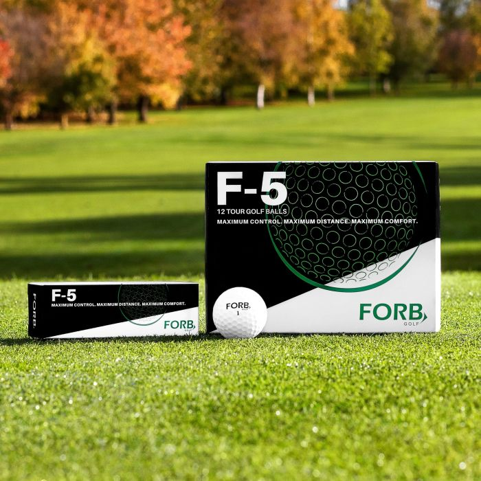 Pack of 3 or 12 FORB F-5 PGA Tour Quality Golf Balls | Net World Sports
