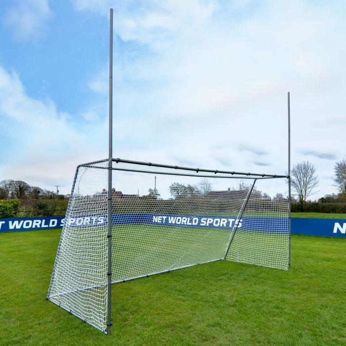 Galvanised Steel GAA Gaelic Football & Hurling Garden Goal | Net World Sports
