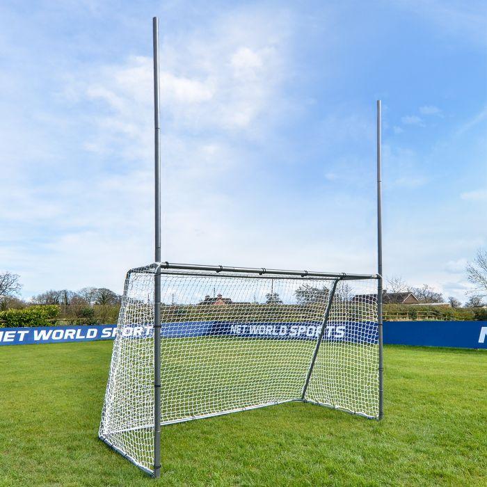 Galvanized Steel GAA Gaelic Football Goal For The Backyard | Net World Sports