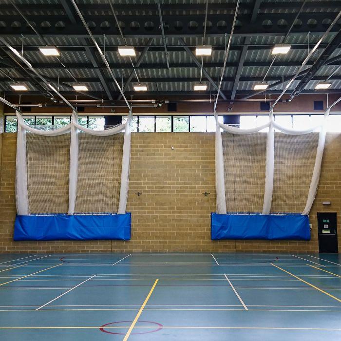 Indoor Cricket Nets With Canvas Inlays