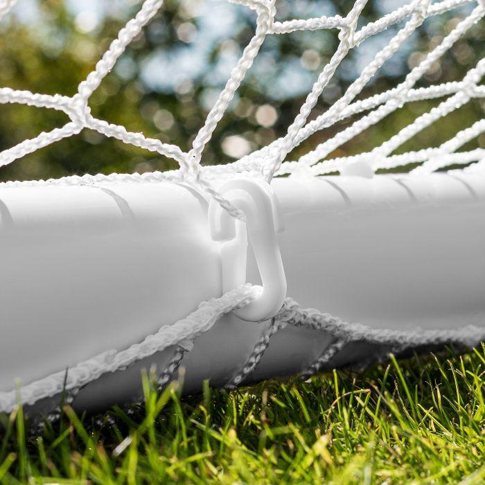 PVC Garden Backyard Goal Posts With Net Clips & Steel U-Pegs Included | Net World Sports