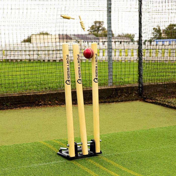 High-Quality Freestanding Timber Cricket Stumps | Net World Sports