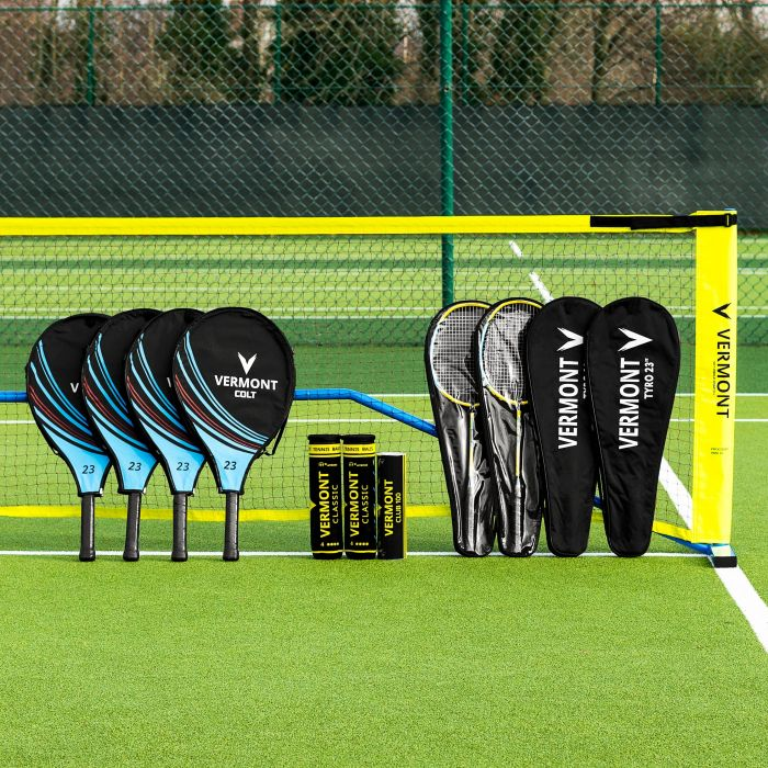 Vermont ProCourt Mini Tennis & Badminton Net & Racket Set | Net World Sports