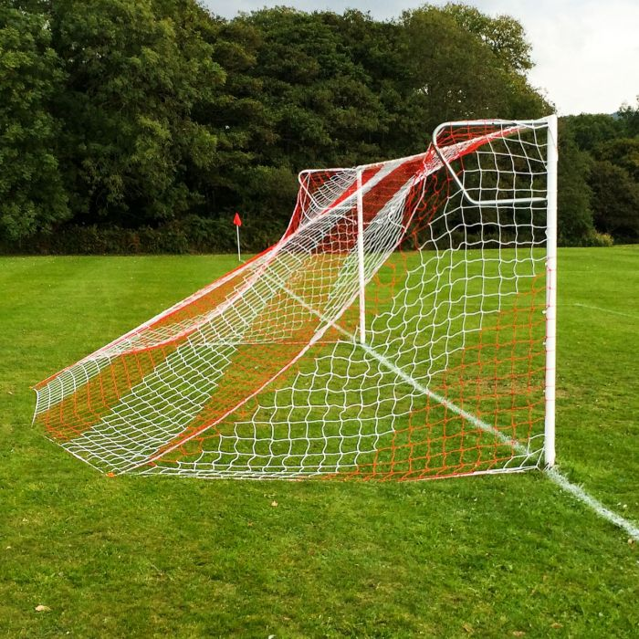 Red and White Football Nets