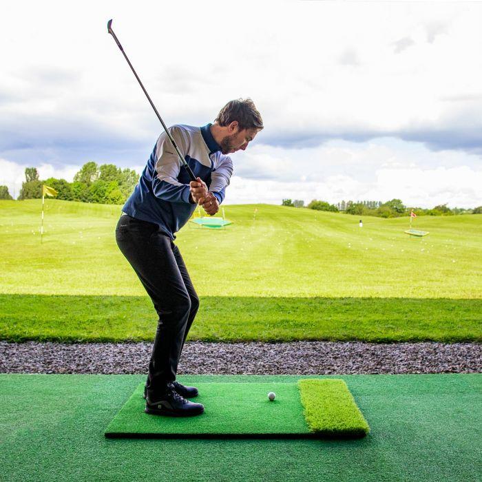 Outdoor Dual Turf Golf Hitting Mat