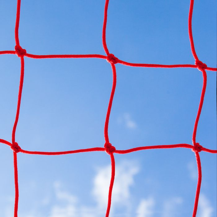 Red Braided Football Stadium Goal Net