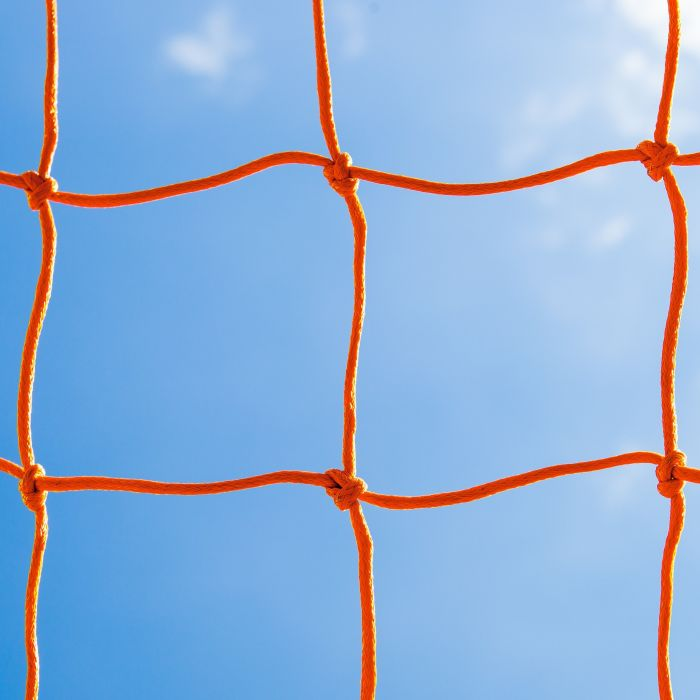 Orange Braided Football Stadium Goal Nets