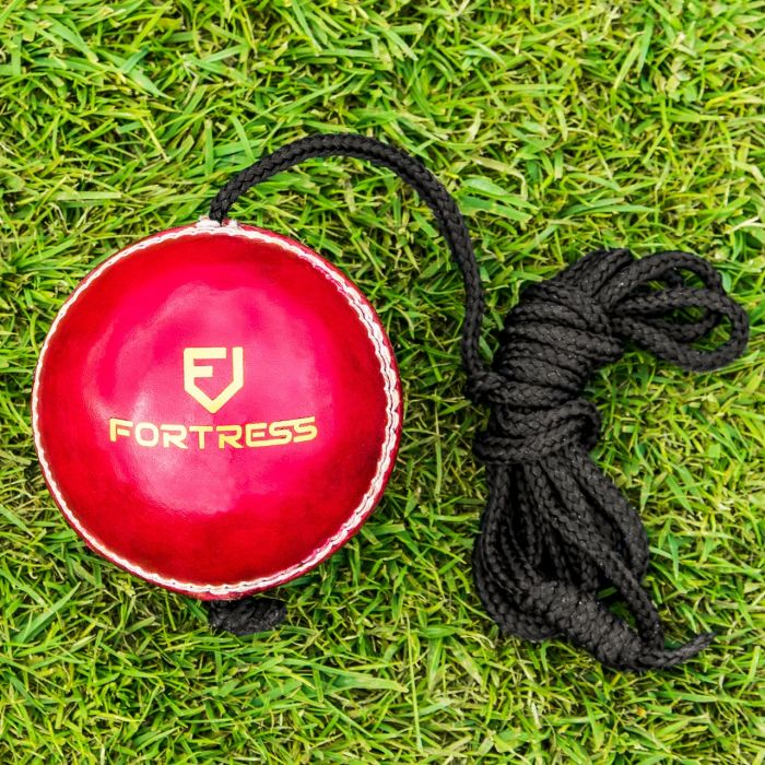 Leather Cricket Ball On String | Net World Sports