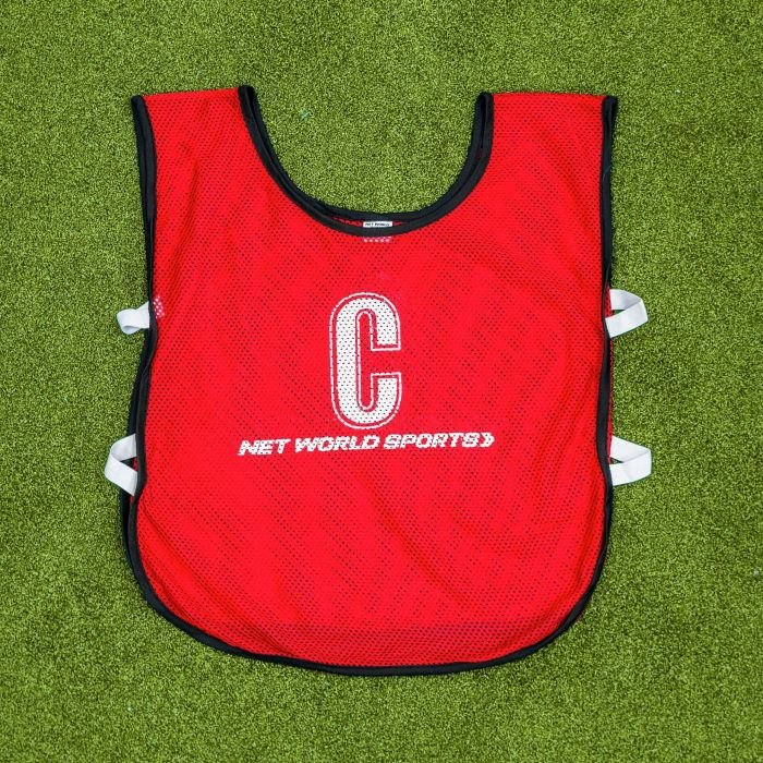 Professional Quality Red Netball Bibs | Net World Sports