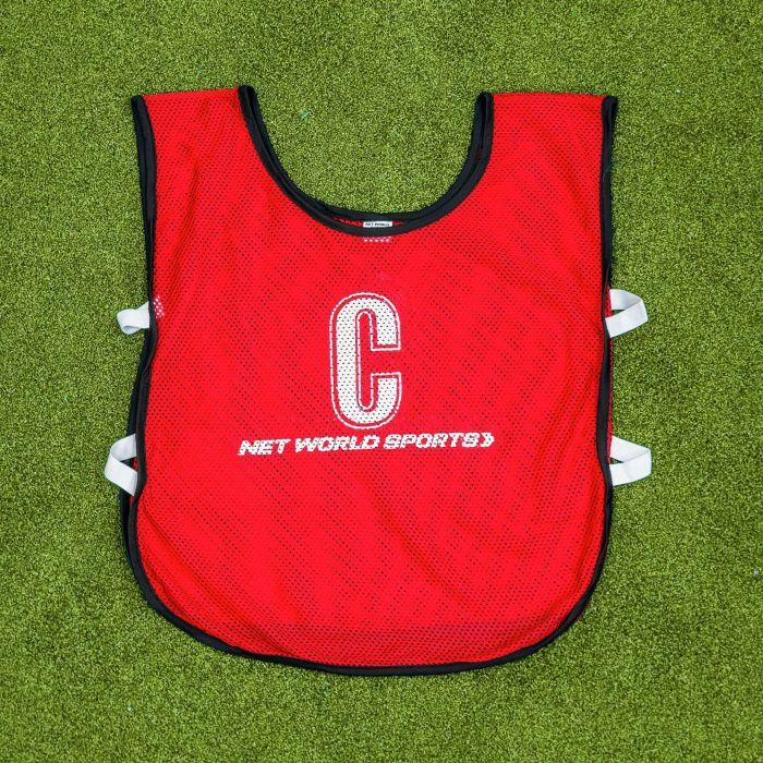 Professional Quality Red Netball Bibs | Net World Sports