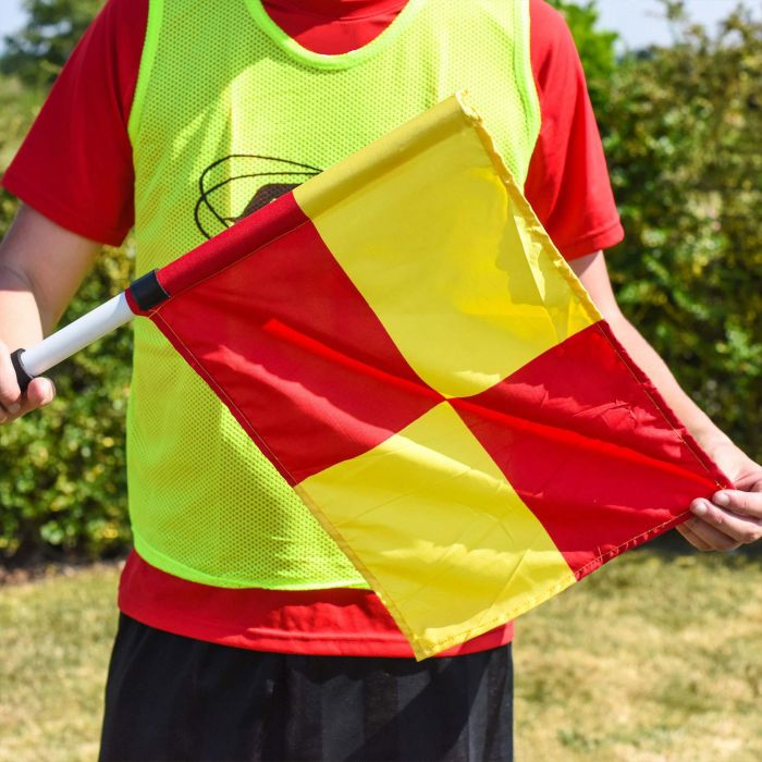 Brightly Coloured UEFA Linesman Flags