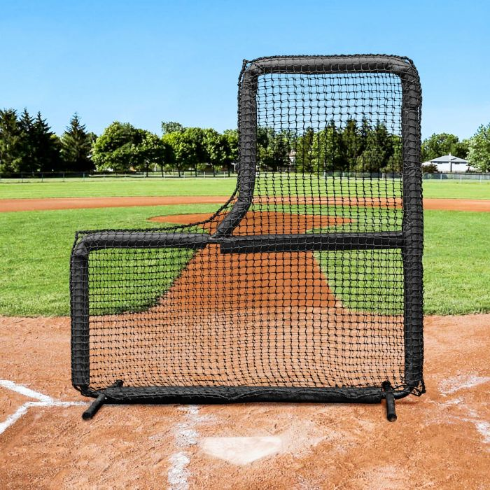 Training 7ft x 7ft Baseball L-Screen Frame & Net [Nimitz Edition]