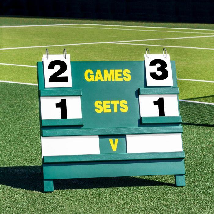 Professional Freestanding Wooden Tennis Scoreboard | Net World Sports