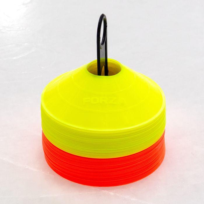 Orange & Yellow Coloured Cones   Net World Sports