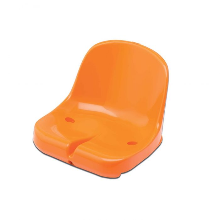 Orange Moulded HDPP Seats for Sports Dugout & Shelters | Net World Sports