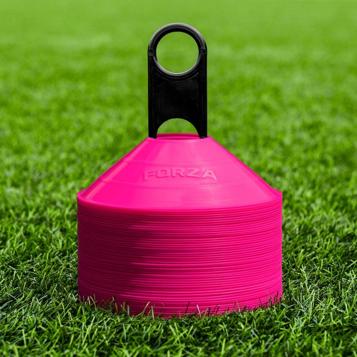 Pink American Football Training Marker Cones