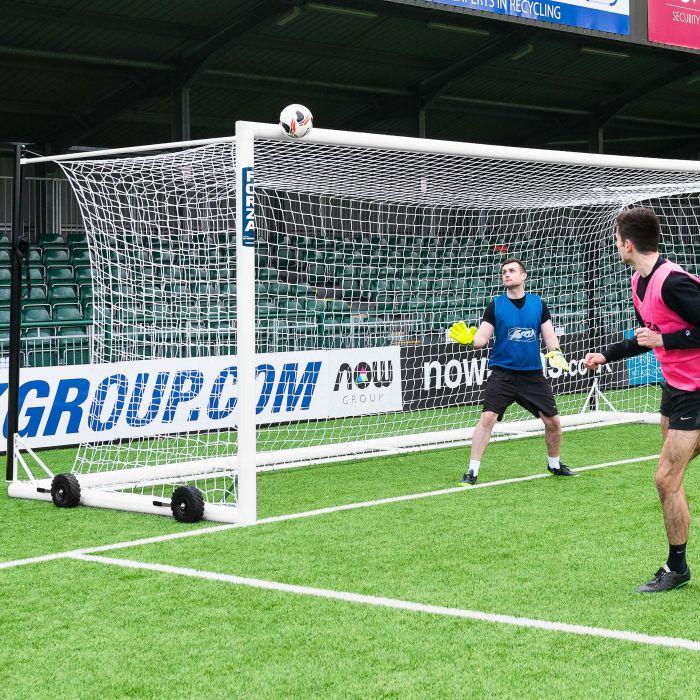 21 x 7 Premium Quality Stadium Box Soccer Goal