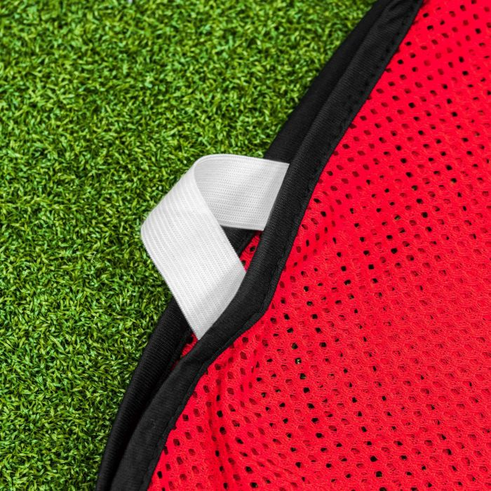Red Netball Vest With Elastic Waist | Net World Sports