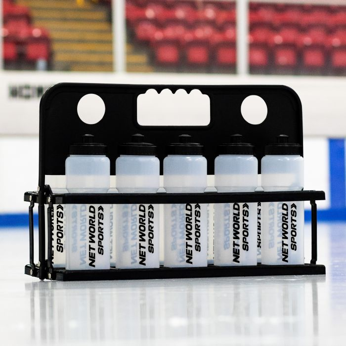10 Semi-Translucent Hockey Bottles & Carrier