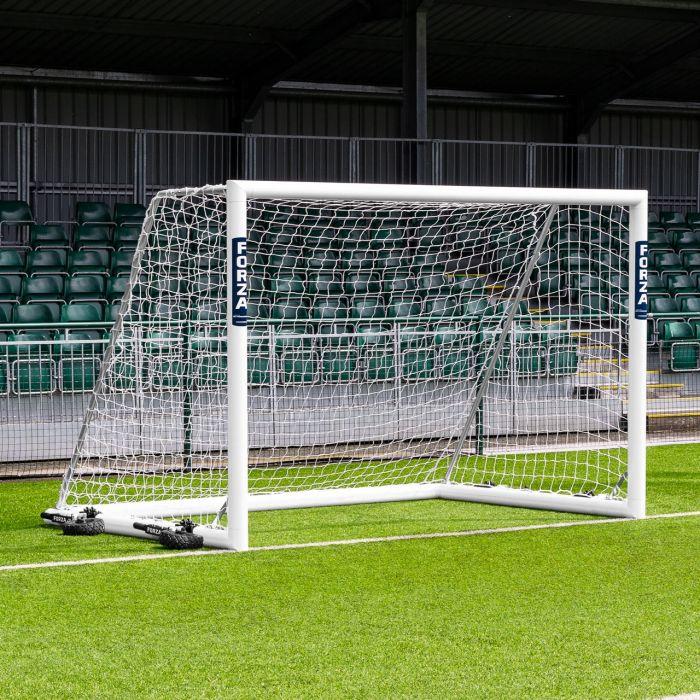 3m x 2m FORZA Alu110 Freestanding Futsal Football Goal | 10ft x 6.5ft FORZA Alu110 Freestanding Futsal Soccer Goal