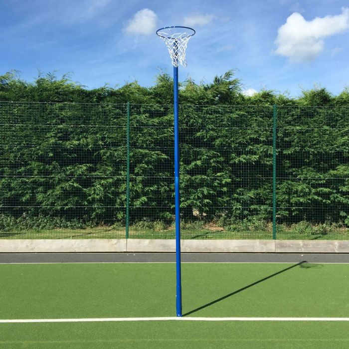 Steel Netball Posts With Ground Sockets | Net World Sports