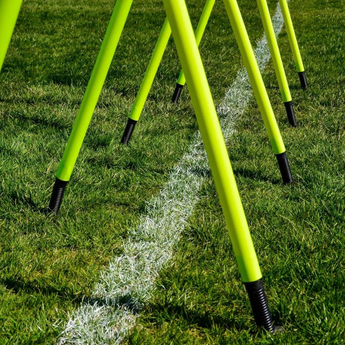 Spring Loaded Slalom Poles for Fitness Drills