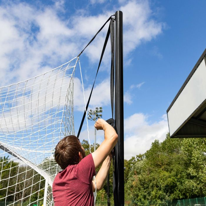 4-Point Soccer Net Tensioning System