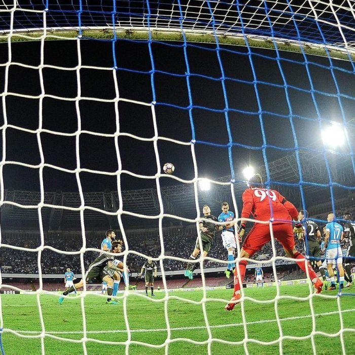 Blue & White Stadium Football Nets - Blue & White Stadium Soccer Nets