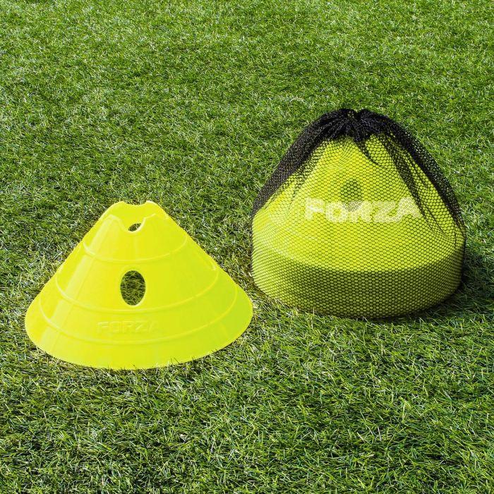 Yellow Football FORZA Mega Cone And Bag